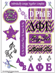Delta Phi Epsilon Sorority Greek stickers and gear