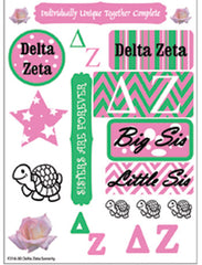 Delta Zeta Sorority Greek stickers and gear
