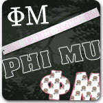 Phi Mu Sorority gifts and Greek accessories