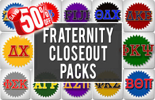 Fraternity Closeout Packs