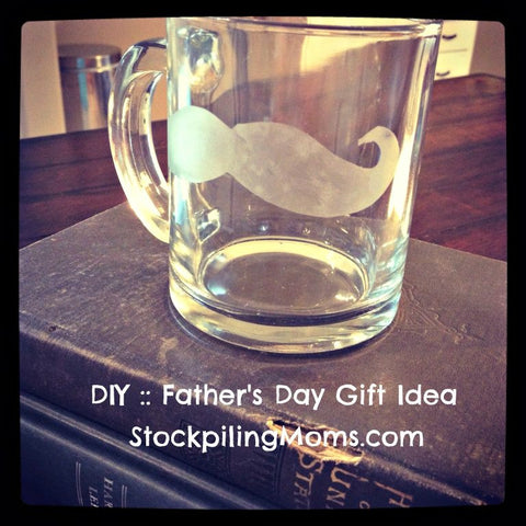 fathers day glass etched coffee mug custom design