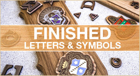 Finished Letters and Symbols