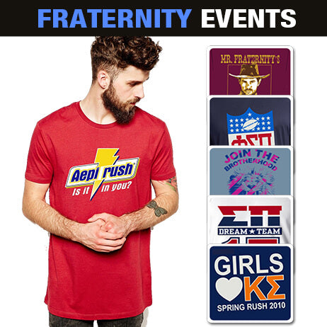 Fraternity clothing screen print Custom Greek merchandise Greek week designs