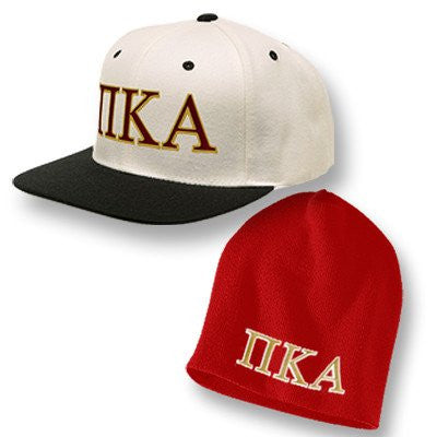 greek fraternity beanie and snapback cap package customized somethinggreek