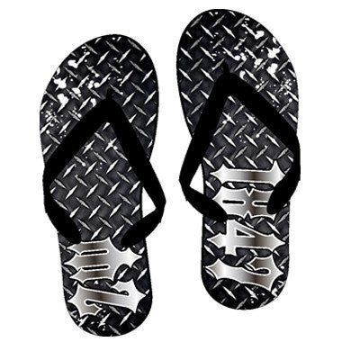 Something Greek Exclusive Fraternity Diamond Plate Flip Flops