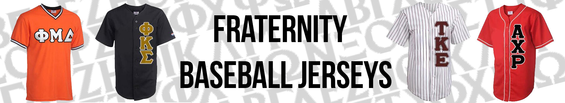 Fraternity Greek Baseball Sports Jerseys
