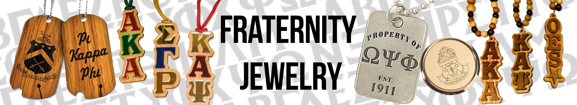 Custom Greek Fraternity Jewelry and Necklaces