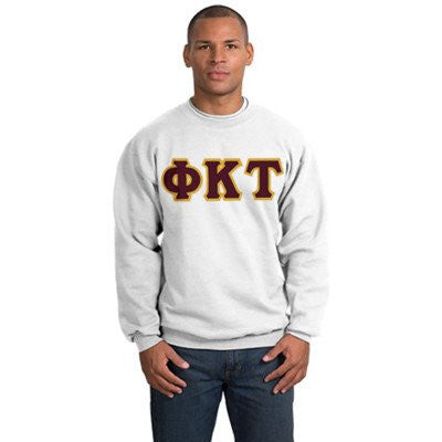 greek fraternity crewneck sweater custom letter pattern color