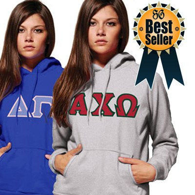 greek sorority hoodie custom letter pattern border color