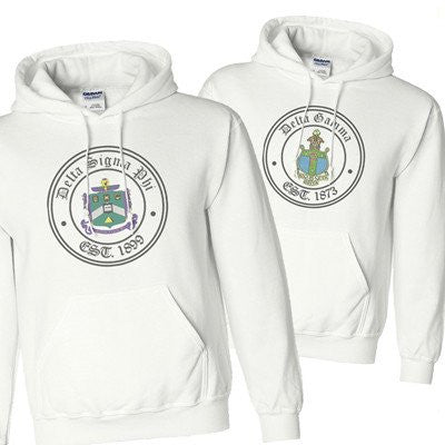 greek printed crest stamp sweatshirt hoodie crewneck sweater