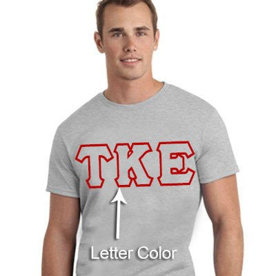 greek fraternity sorority printed outline greek letter shirt custom clothing