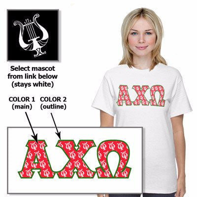 greek sorority mascot tee custom color printed somethinggreek