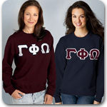 Gamma Phi Omega Sorority clothing specials and Custom Greek merchandise