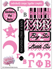 Gamma Phi Beta Sorority Greek stickers and gear