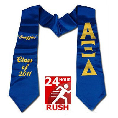 greek 24 hour printed stole alpha xi delta graduation gift fast shipping greek merchandise