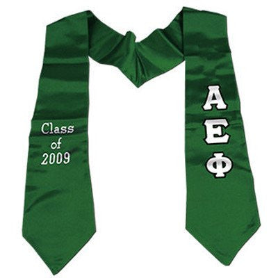 greek letter fraternity sorority aephi alpha epsilon phi graduation stole