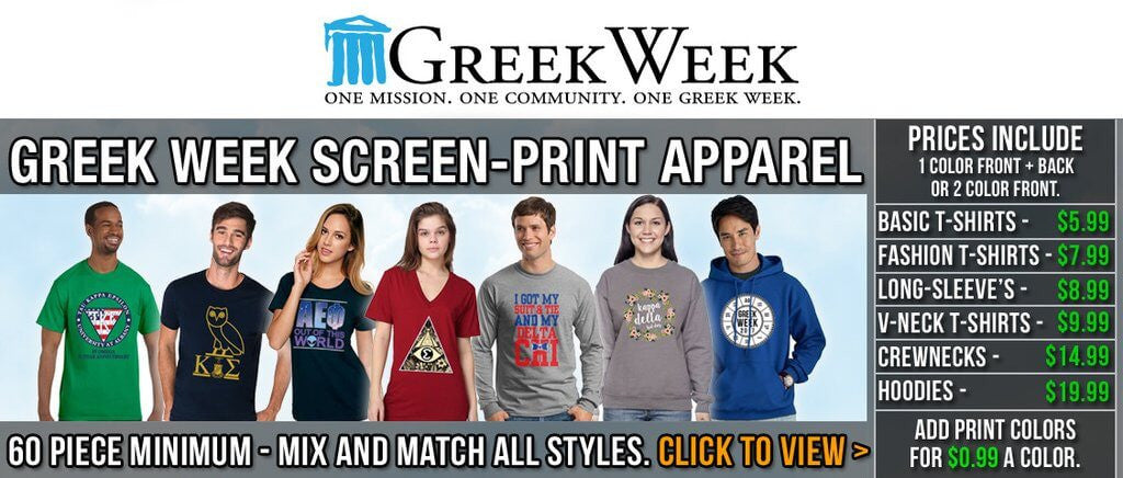 Custom Greek merchandise Greek shirts Greek Week gear