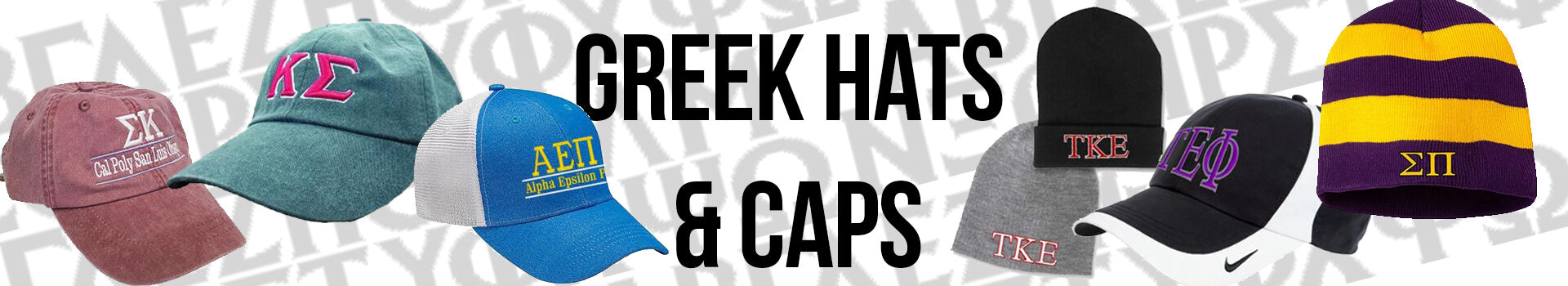 Custom Embroidered and Printed Greek Hats, Caps, and Visors for Fraternities and Sororities
