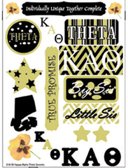 Kappa Alpha Theta Sorority Greek stickers and gear