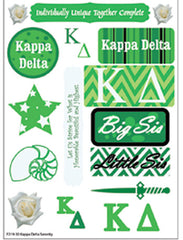 Kappa Delta Sorority Greek stickers and gear