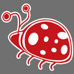 Lady Bug print design for Custom Greek sorority clothing