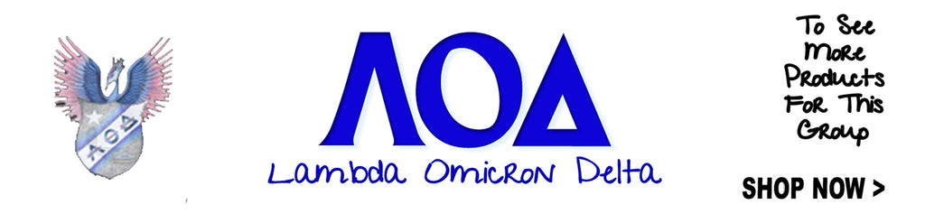 Lambda Omicron Delta Sorority clothing and Greek merchandise