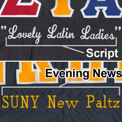 greek sorority fraternity large line embroidery customization somethinggreek