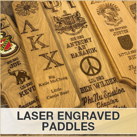Custom Laser Engraved Paddles with Crest