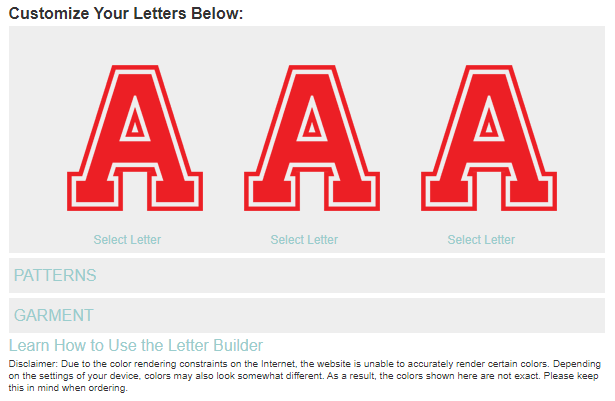 Letter Preview Design Tool - CAD