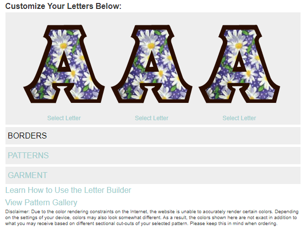 Letter Preview Design Tool - TWILL