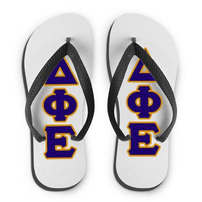 greek custom flip flop fraternity sorority merchandise custom colors somethinggreek