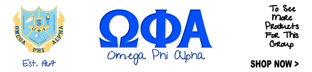 Omega Phi Alpha Sorority clothing and Custom Greek merchandise