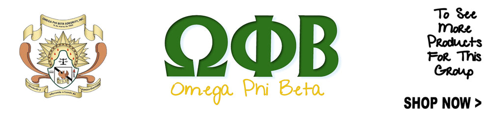 Omega Phi Beta Sorority clothing and Custom Greek merchandise