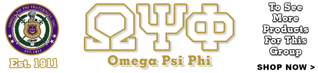 Omega Psi Phi Fraternity Clothing and Custom Greek Merchandise