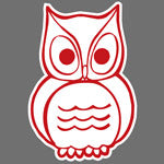 Owl print design for Custom Greek sorority clothing