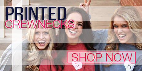 sorority printed crewnecks