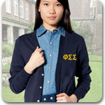 Phi Sigma Sigma Sorority custom embroidered Greek clothing