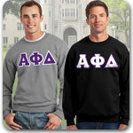 Alpha Phi Delta Fraternity clothing specials and Custom Greek merchandise