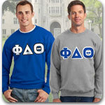 phi delta theta fraternity greek gear pack letter shirts hoodie combo sweatpants sweats long sleeve shirts embroidery custom printed
