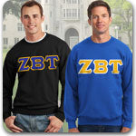 Zeta Beta Tau Fraternity clothing specials on Custom Greek Gear