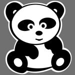 Panda print design for Custom Greek sorority clothing