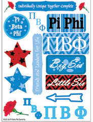 Pi Beta Phi Sorority Greek stickers and gear