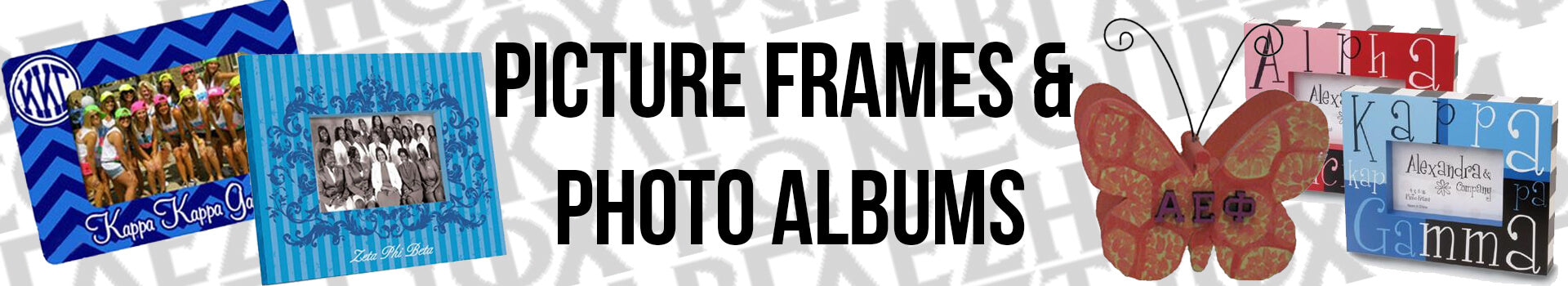 Fraternity and Sorority Picture Frames and Photo Albums
