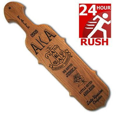 pointed paddle rush 24 hour wood accessories greek sorority fraternity merchandise