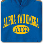Alpha Tau Omega Fraternity custom printed Greek gear