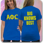 Alpha Phi Omega Fraternity custom printed Greek shirts