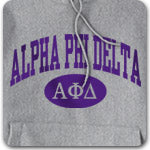 Alpha Phi Delta Fraternity printed apparel and custom printed Greek merchandise