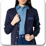 Theta Phi Alpha National Sorority Custom Greek merchandise Greek embroidered clothing