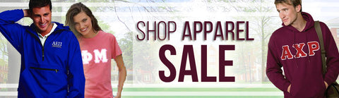 Shop Sorority and Fraternity Apparel Sale