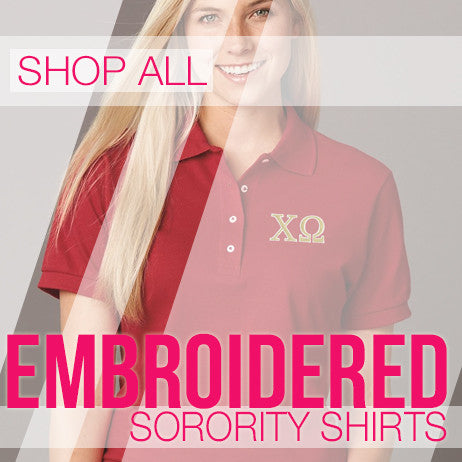 Custom Embroidered Sorority Shirts